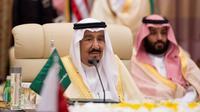 Le roi d'Arabie saoudite Salmane ben Abdelaziz Al Saoud, le 21 mai 2017 à Ryad [BANDAR AL-JALOUD / Saudi Royal Palace/AFP/Archives]