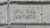 """""""Quai des orfèvres"""" gravé à Paris [Jacques Demarthon / AFP/Archives]"""