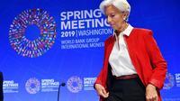 La directrice générale sortante du FMI Christine Lagarde le 11 avril 2019 [MANDEL NGAN / AFP/Archives]