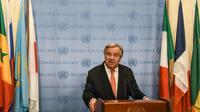 Le secrétaire général de l'ONU Antonio Guterres à New York, le 6 décembre 2017 [STEPHANIE KEITH / GETTY IMAGES NORTH AMERICA/AFP/Archives]
