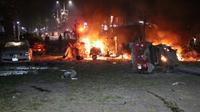 Explosion d'une voiture piégée à Mogadiscio, le 28 février 2019 en Somalie [Abdirazak Hussein FARAH / AFP]