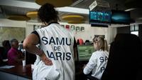 Employées du Samu 75, au coeur de l'hôpital Necker à Paris, Paris le 22 mai 2018 [Philippe LOPEZ / AFP]