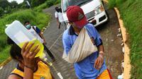 Un blessé après des heurts entre étudiants et policiers dans la zone de l'Université nationale autonome du Nicaragua (UNAN), le 23 juin 2018 à Managua [Marvin RECINOS / AFP]