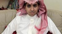 Le blogeur saoudien Raef Badaoui, le 16 janvier 2015 [- / FAMILY ALBUM/AFP]