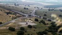 Un système israélien de défense aérienne près de la frontière syrienne, le 9 mai 2018 dans la partie du Golan occupée par Israël. [JALAA MAREY / AFP]