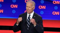 L'ex-vice président américain Joe Biden, lors du deuxième débat démocrate, le 31 juillet 2019 à Detroit [Jim WATSON / AFP]