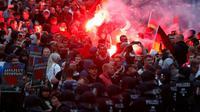 Des manifestants d'extrême droite le 27 août 2018 à Chemnitz dans l'est de l'Allemagne [Odd ANDERSEN / AFP]