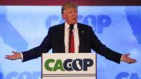 Donald Trump candidat à l'investiture républicaine, lors d'un discours le  29 avril 2016 à Burlingame (Californie) [GABRIELLE LURIE / AFP/Archives]