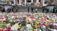 Place de la Bourse à Bruxelles, le 27 mars 2016, des hommages aux victimes des attentats  [NICOLAS MAETERLINCK / BELGA/AFP]
