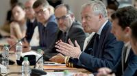Le ministre de l'Economie Bruno Le Maire au siège de GE à Belfort le 3 juin 2019 [PATRICK HERTZOG / AFP]