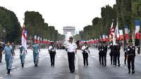 Répétitions le 11 juillet 2018 en vue du défilé du 14-juillet à Paris [GERARD JULIEN / AFP]