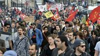 Manifestation contre la loi travail, le 12 mai 2016 à Bordeaux [GEORGES GOBET / AFP/Archives]