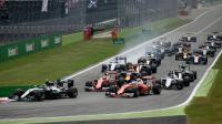 Les monoplaces au départ du Grand prix d'Italie de sur, l'Autodrome de Monza, le 4 septembre 2016 [GABRIEL BOUYS                        / AFP/Archives]
