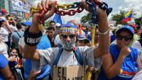 Manifestation à Caracas contre le président vénézuélien Nicolas Maduro, le 26 octobre 2016 [Juan BARRETO / AFP]