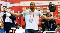 L'entraîneur de l'équipe de France de handball, Didier Dinart, lors du match de l'Euro-2018 contre la Norvège à Porec en Croatie, le 12 janvier 2018 [- / AFP]