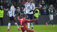 L'Olympique lyonnais, porté par un grand Anthony Lopes, s'adjuge le derby du Rhône contre Saint-Etienne à Geoffroy-Guichard, le 20 janvier 2019 [ROMAIN LAFABREGUE / AFP]