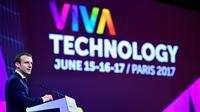 Le président français Emmanuel Macron au salon VivaTech, le 15 juin 2017 à Paris [Martin BUREAU / POOL/AFP]