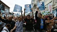Des indépendantistes taïwanais manifestent à Taipei, le 20 octobre 2018 [SAM YEH / AFP]