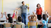 Une salle de classe pour enfants sourds utilisant le langage des signes, le 3 septembre 2013 à Ramonville. [Remy Gabalda / AFP/Archives]