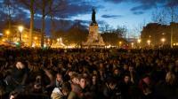 """Rassemblement pour la """"Nuit Debout"""", place de la République à Paris, le 10 avril 2016 [JOEL SAGET / AFP/Archives]"""