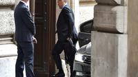 Le Premier ministre italien désigné Carlo Cottarelli arrive au Parlement, le 30 mai 2018 [Andreas SOLARO / AFP]