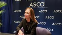 Sara Hurvitz lors de la conférence annuelle de l'American Society of Clinical Oncology (ASCO), à Chicago, le 1er juin 2019  [Issam AHMED / AFP]