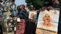 Partisanes de la candidate à la présidentielle malienne Djeneba N'Diaye à Bougouni, le 16 juillet 2018 [Sebastien Rieussec / AFP/Archives]
