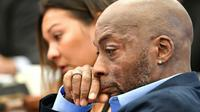 Le plaignant Dewayne Johnson, qui accuse Monsanto d'être responsables de son cancer, le 9 juillet 2018 lors de son procès contre l'entreprise de produits chimiques à San Francisco [JOSH EDELSON / AFP/Archives]