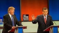 Donald Trump et Ted Cruz lors d'un débat télévisé le 3 mars 2016 à Detroit dans le Michigan [Geoff Robins / AFP]