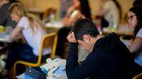 Des lycéens lors de l'épreuve de philosophie du baccalauréat le 15 juin 2017 à Paris [Martin BUREAU / AFP/Archives]