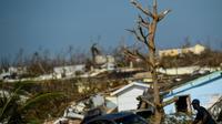 Scène de désolation à Marsh Harbour, sur l'île bahaméenne d'Abaco, le 7 septembre 2019 [Brendan Smialowski / AFP]