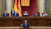 Le président indépendantiste catalan Artur Mas, lors d'une session au Parlement à Barcelone, le 9 novembre 2015 [Lluis Gene / AFP]