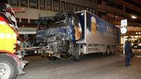 Le camion utilisé pour l'attentat à Stockholm, le 7 avril 2017 [Odd ANDERSEN / AFP/Archives]