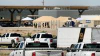 Un centre de détention temporaire pour mineurs sans papiers à Tornillo, au Texas, à la frontière entre le Mexique et les Etats-Unis, le 18 juin 2018  [HERIKA MARTINEZ / AFP]