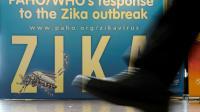 Une affiche au siège de l'Organisation mondiale de la Santé, à Genève le 23 mai 2016 [FABRICE COFFRINI / AFP/Archives]
