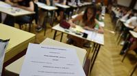 Des lycéens passent leur épreuve de philosophie à Strasbourg, le 15 juin 2017 [FREDERICK FLORIN / AFP/Archives]
