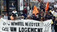 Manifestation en faveur des mal-logés à Paris, le 11 novembre 2007. [JOEL SAGET / AFP/Archives]