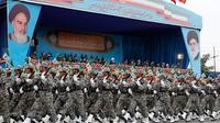 Photo d'une parade militaire annuelle, en présence du président iranien Hassan Rohani, le 18 avril 2019 à Téhéran [stringer / afp/AFP/Archives]