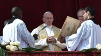 Le pape François lors de la messe de Pâques au Vatican le 27 mars 2016 [ALBERTO PIZZOLI / AFP]