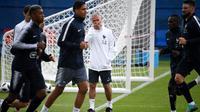 Premier entraînement des joueurs de l'équipe de France, dans leur camp de base à Istra, près de Moscou, le 11 juin 2018 [Franck FIFE / AFP]