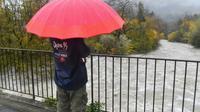 La rivière Le Loup en crue à Pont-du-Loup, le 23 novembre 2019 [YANN COATSALIOU / AFP]