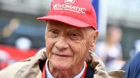 Le triple champion du monde de Formule 1 Niki Lauda assiste au Grand prix d'Autriche sur le circuit de Spielberg, le 3 juillet 2016 [ANDREJ ISAKOVIC / AFP/Archives]