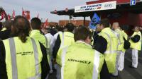 Manifestation de salariés d'Air France contre les mises en garde à vue, le 12 octobre 2015 à Roissy-en-France  [DOMINIQUE FAGET / AFP/Archives]
