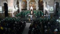 La Conférence des évêques de France réunie à Lourdes le 5 novembre 2019 [PASCAL PAVANI / AFP/Archives]