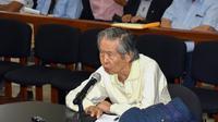 Un juge péruvien a annulé mercredi la grâce accordée fin 2017 à l'ancien président du Pérou Alberto Fujimori, condamné pour crimes contre l'humanité et corruption [HO / Peruvian Judiciary/AFP/Archives]