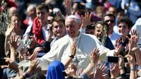 Le pape François, le 9 avril 2017 au Vatican [Alberto PIZZOLI / AFP/Archives]