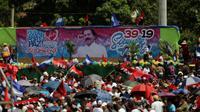 Des soutiens du président Daniel Ortega participe aux commémorations de la révolution sandiniste à Managua, au Nicaragua, le 19 juillet 2018 [INTI OCON / AFP]