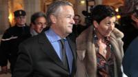 Jean-Marie Messier et sa compagne  Christel Delaval à leur arrivée le 21 janvier 2011 au palais de justice à Paris [Jacques Demarthon / AFP/Archives]