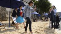 La maire de Paris Anne Hidalgo le jour de l'ouverture de la 13e édition de Paris plages le 19 juillet 2014 [Bertrand Guay / AFP/Archives]