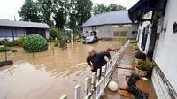 Quartier inondé à Adé près de Tarbes, le 3 juin 2018 [LAURENT DARD / AFP]
